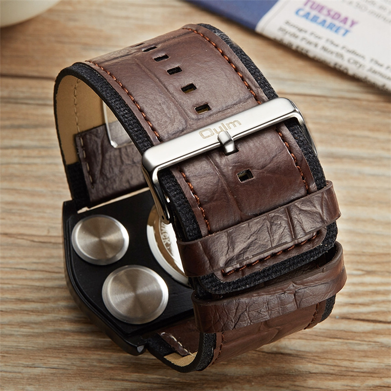 Oulm Reloj de pulsera deportivo Hombres Reloj militar de cuarzo de - Relojes para hombres - foto 3