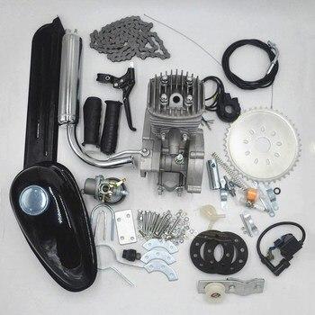 Motor a gás motorizado de bicicleta, kit de motor de bicicleta com 2 tempos de baixo ruído, uso de vibração para diy mtb mountain bike de estrada bicicleta para ciclismo