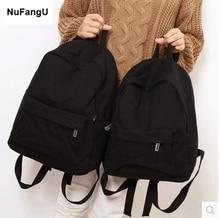 Simple Classic Designe lona mujer mochila para estudiante de escuela bolsa de libros ocio viaje Young
