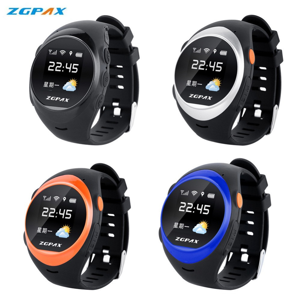 Original ZGPAX S888A Bluetooth Waterproof Smart Watch SOS GPS Tracking Smartwatch Anti-lost Alarm For iOS Android Phone Watches interpad gps tracking smart watch elderly anti lost wrist watch cellphone support sim card pedometer smartwatch for android ios