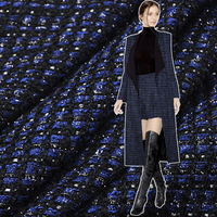 Limited Hot Sale Fashion Weaving Tweed Fabric The High Content Of Wool Fabric For Coat Dress