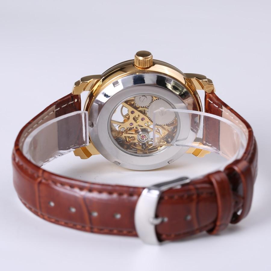 lüks marka moda kişi skeleti üzüm saatı mexaniki mexaniki - Kişi saatları - Fotoqrafiya 4