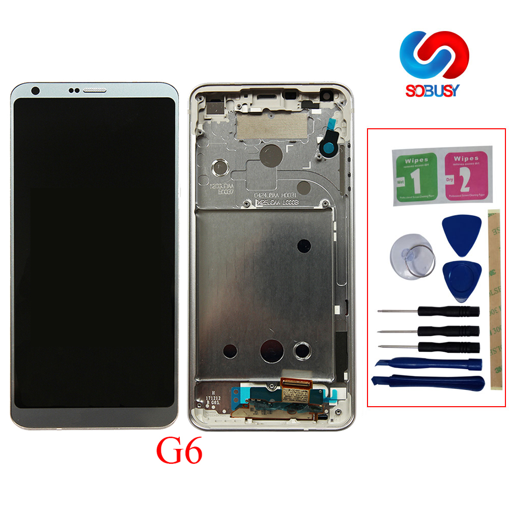 Original 5.7 LCD For LG G6 H870 H870DS H872 LS993 VS998 US997 LCD display Touch Screen Digitizer Assembly with frame ReplaceOriginal 5.7 LCD For LG G6 H870 H870DS H872 LS993 VS998 US997 LCD display Touch Screen Digitizer Assembly with frame Replace