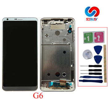 """Original 5.7"""" LCD For LG G6 H870 H870DS H872 LS993 VS998 US997 LCD display Touch Screen Digitizer Assembly with frame Replace"""