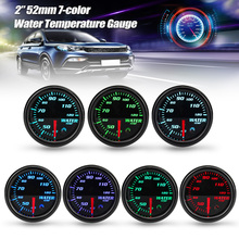 12V Universal 2inch 52mm Water Temperature Gauge Digital 7-color LED Display Car Meter Water temp