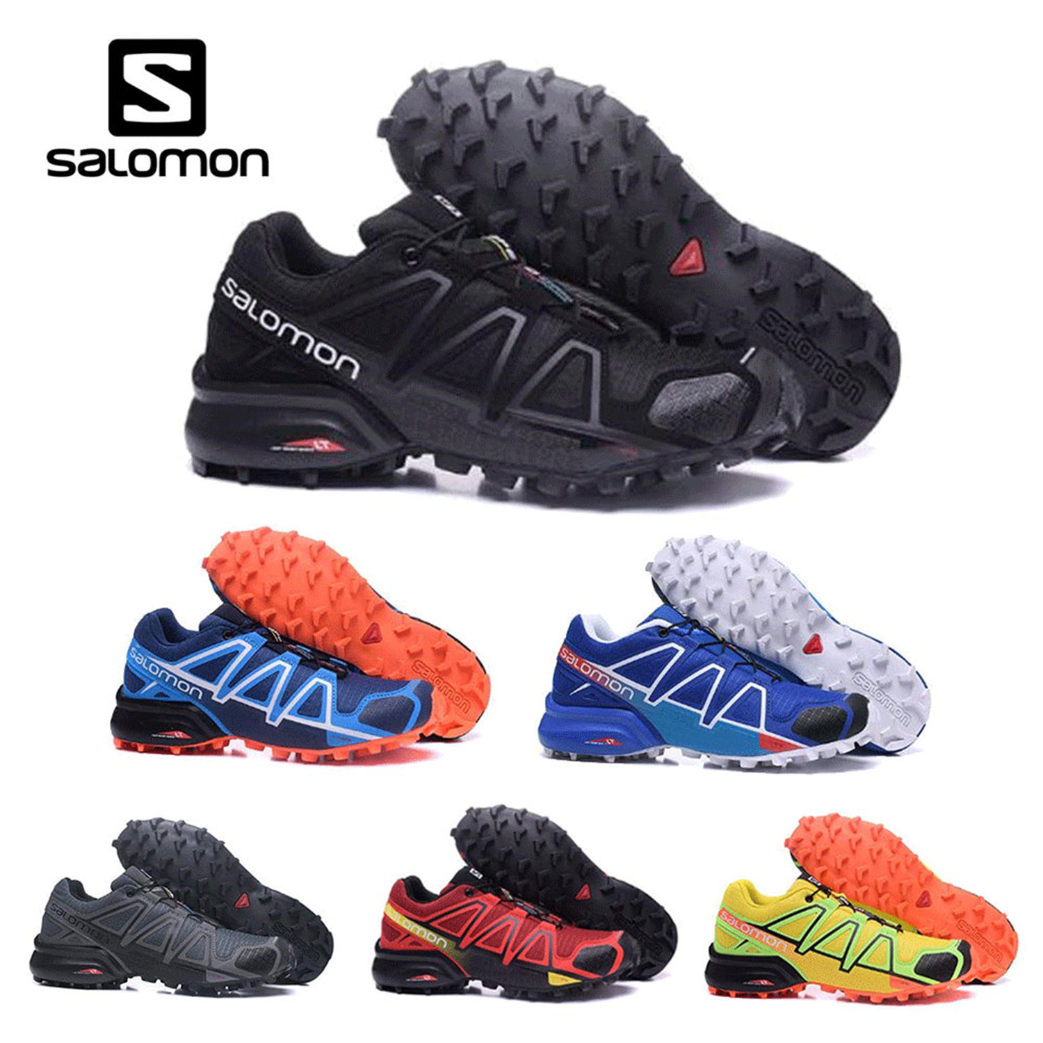 656fa01dd0bc Salomon Speed Cross 4 CS cross-country men running shoes Brand Sneakers Male  Athletic Sport