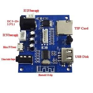 Image 4 - Bluetooth 5.0オーディオレシーバーワイヤレスアダプタ3.5ミリメートルusbディスクtifカードのデコードMp3プレーヤーリモコン