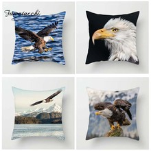 Fuwatacchi Raptor Series Cushion Cover For Sofa Bald Eagle Printed Pillow Decorative Pillows Pillowcase Home Decor