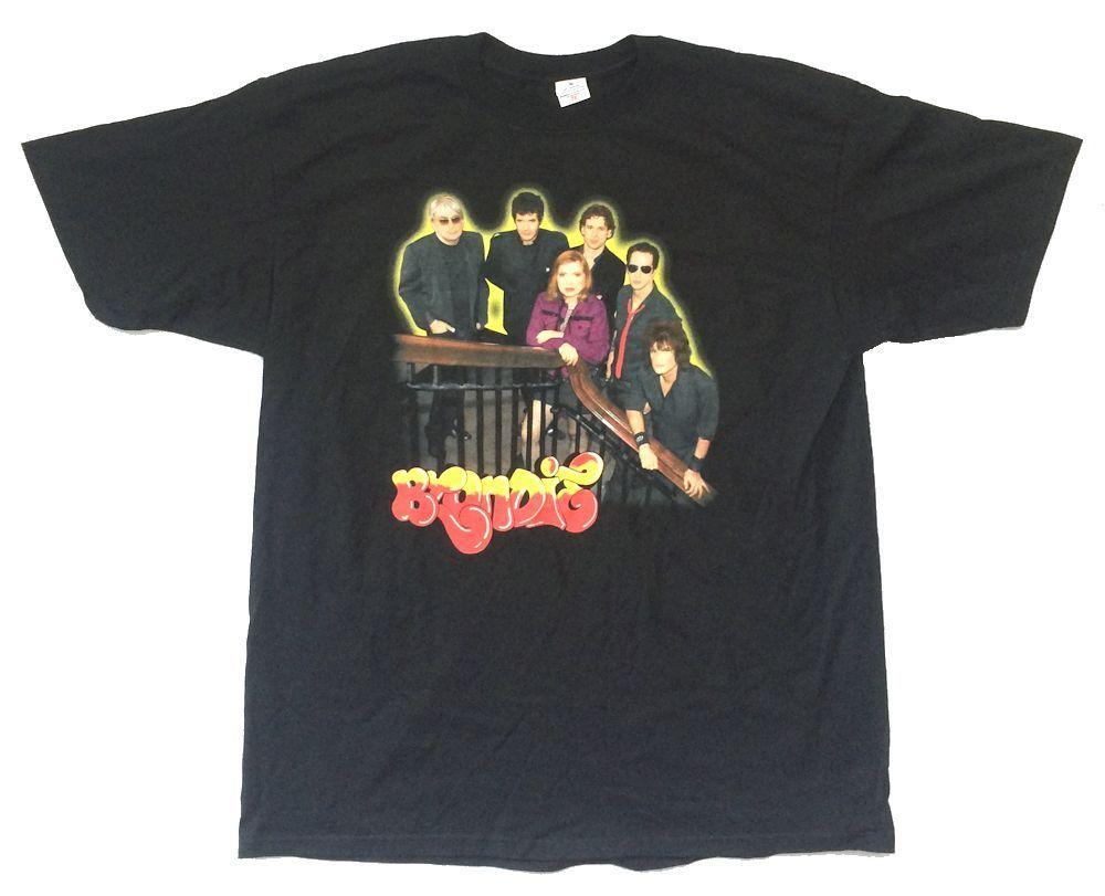 Blondie группа выстрел Дорога ярости Tour 2006 Черная футболка новый официальный