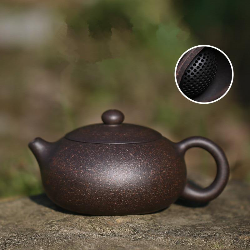 200ML Yixing Teapot Zisha Xishi Tea Pot Handmade Kettle Purple Clay Drinkware With Gift Box Suit Tieguanyin Puer