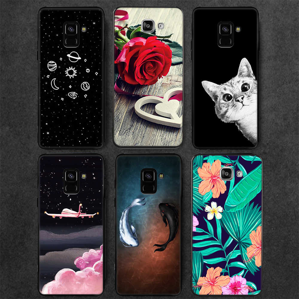 Matte TPU Pattern Case For Samsung Galaxy A6 A8 Plus J4 J6 2018 A9 Star Lite Note 9 S9 S8 Plus A5 J3 J5 J7 2017 Cover Cases