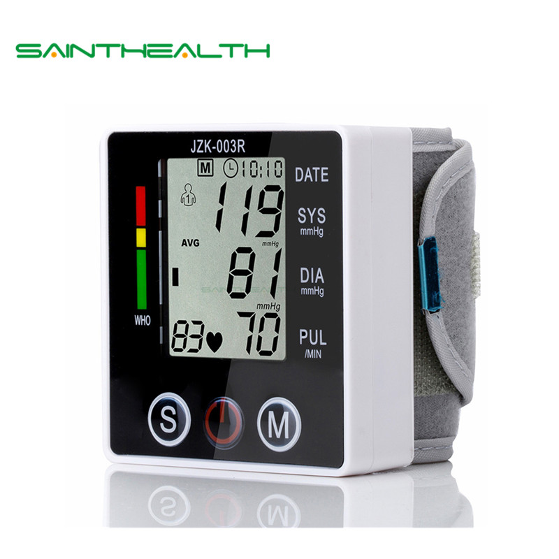 Health Care new tensiometro digital Blood Pressure Monitor Wrist tonometer Automatic Sphygmomanometer BP Blood Pressure Meter health care wrist portable digital automatic blood pressure monitor