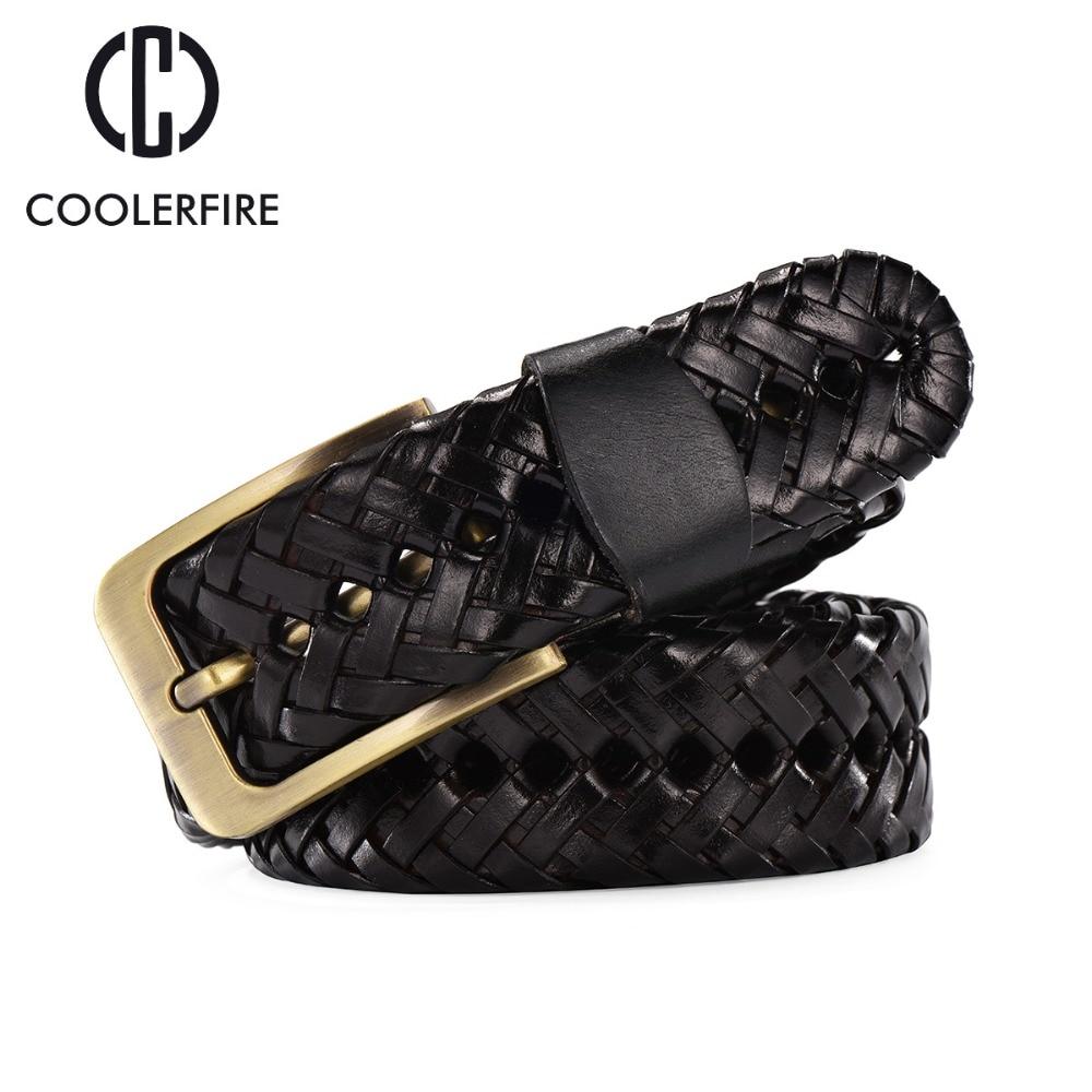 2017 أحزمة أحزمة فاخرة جلد طبيعي للرجال محبوك مصمم عالية الجودة الذكور حزام أزياء الخصر حزام bz002