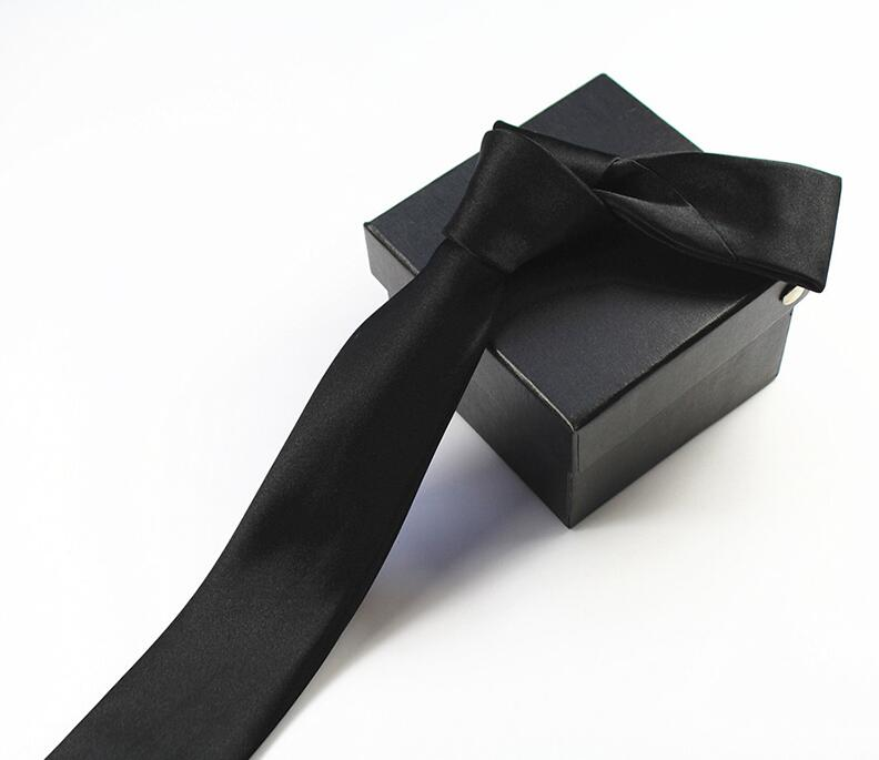 RBOCOTT 솔리드 스키니 넥타이 남성 슬림 타이 캐주얼 남성을위한 6cm 일반 넥타이 결혼식 파티 Corbatas 패키지 상자없이