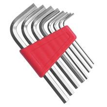"Jewii 8Pcs HEX KEY ALLEN Wrench 1/16 "" 1/4"" นิ้ว & 1.5 มม. 6 มม. ขนาด Chromium Vanadium STEEL Spanner แขนสั้นชุดเครื่องมือ"