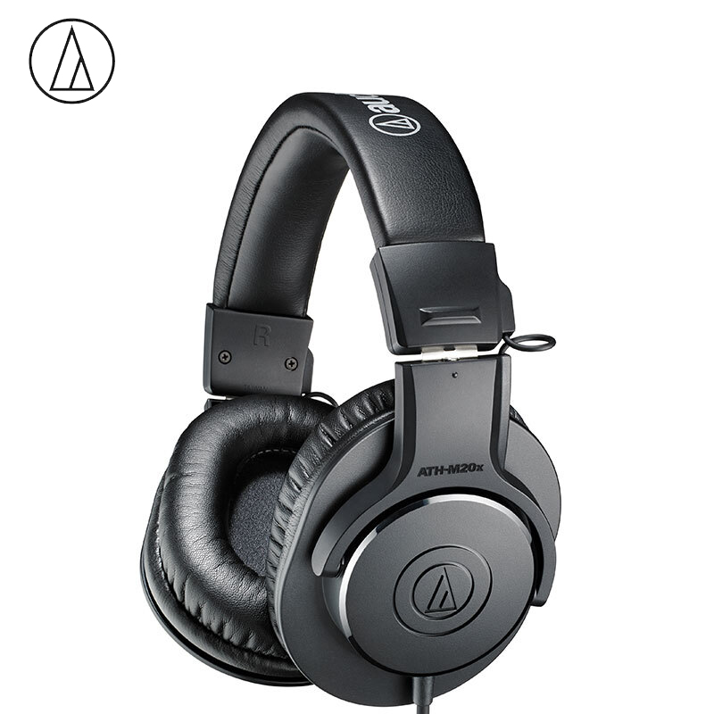 Original Audio Technica ATH-M20X Wired Professional Monitor Headphones Over-ear Closed-back Dynamic Deep Bass 3.5mm Jack image