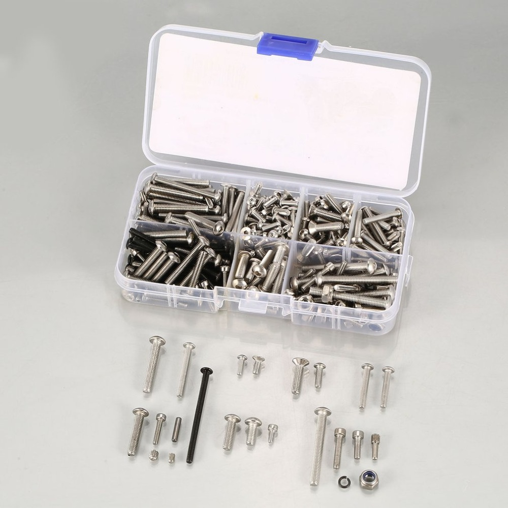 RC Screws Metal Stainless Steel Screws Kit for Traxxas UDR 1/7 Short Truck  Off-road Crawler RC Car Parts Accessories