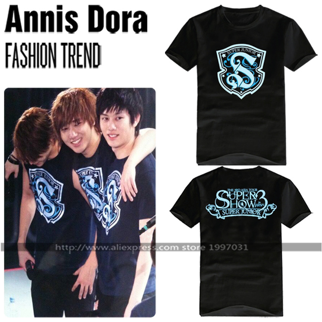 fdae42e7f0129 KPOP SUPER JUNIOR THE 3RD ASIA TOUR SUPER SHOW3 IN JAPAN LEETEUK YESUNG  HEECHUL same style short sleeved T-shirt