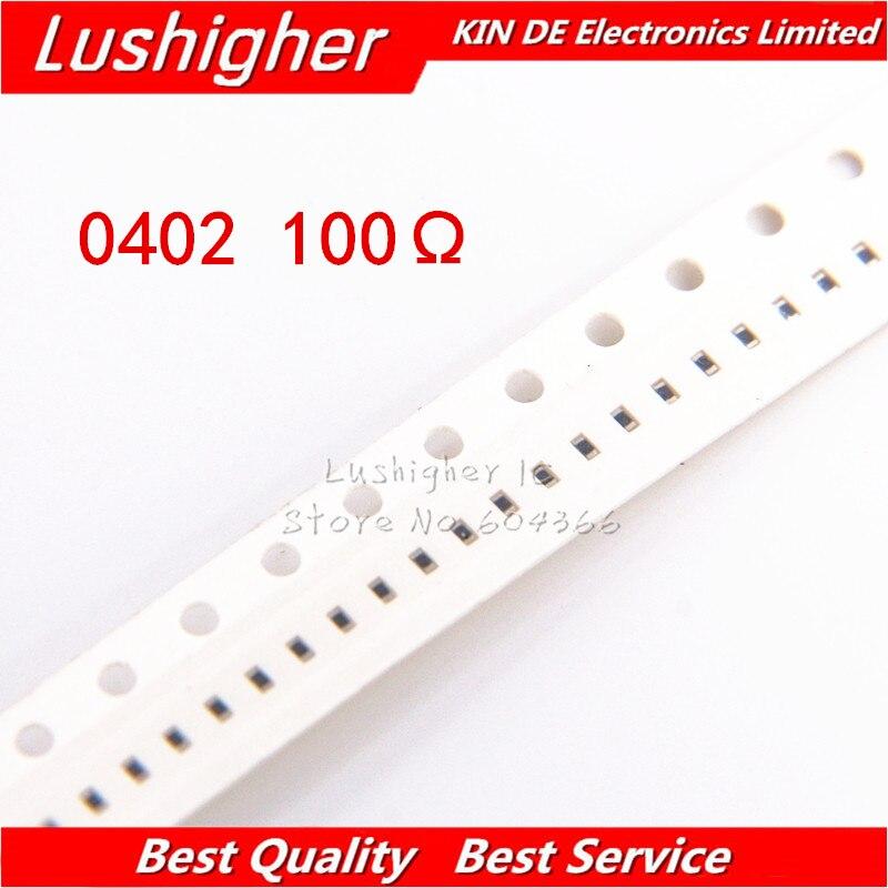 100PCS 0402 SMD Resistor 1% 100ohm 100 Ohm 100R 101