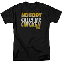Back to the Future Movie Quote NOBODY CALLS ME CHICKEN T-Shirt All Sizes hoodie hip hop t-shirt jacket croatia leather denim clo(China)