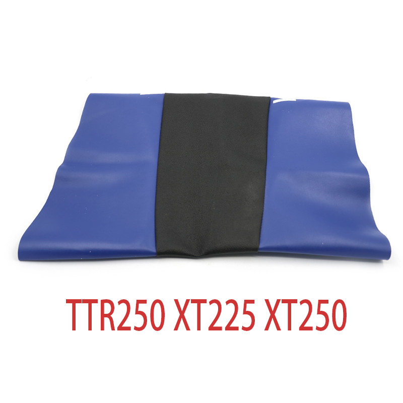 LOGO PU Leather Waterproof Seat Skin Saddle Cushion Cover Off Road For Yamaha TTR250 XT225 XT250 250cc TTR 250 XT 225 250