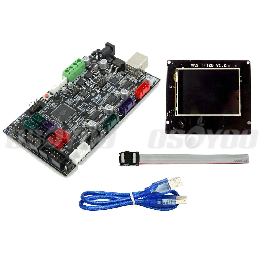 "MKS Mini V1.2 Controller Board One-Extruder No Heatbed + 2.8"" MKS TFT28 V1.2 LCD for 3D printer"