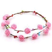 65cm Kindergarten Craft Anadem EVA Wreath Colorful Birthday Gift Toy For Children DIY Kids Arts And Crafts Process Corolla(China)