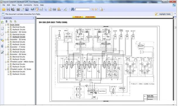 doosan electrical circuits hydraulic circuits all model on rh aliexpress com Gooseneck Trailer Wiring Diagram ATV Wiring Diagram