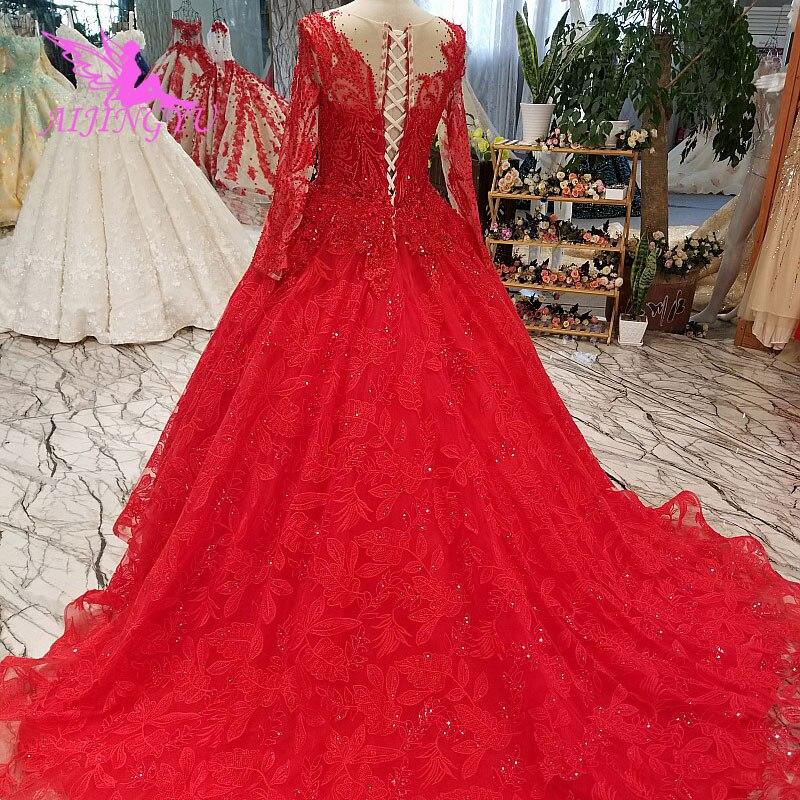 Image 5 - AIJINGYU Wedding Dress Lebanon Gorgeous Gowns Sell Luxury Lace White Corset 2019 Vintage Boho Gown Clearance Wedding DressesWedding Dresses   -