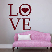 Wall Decals Quotes Love Heart Decal Art Bedroom Home Vinyl Sticker Decor F767