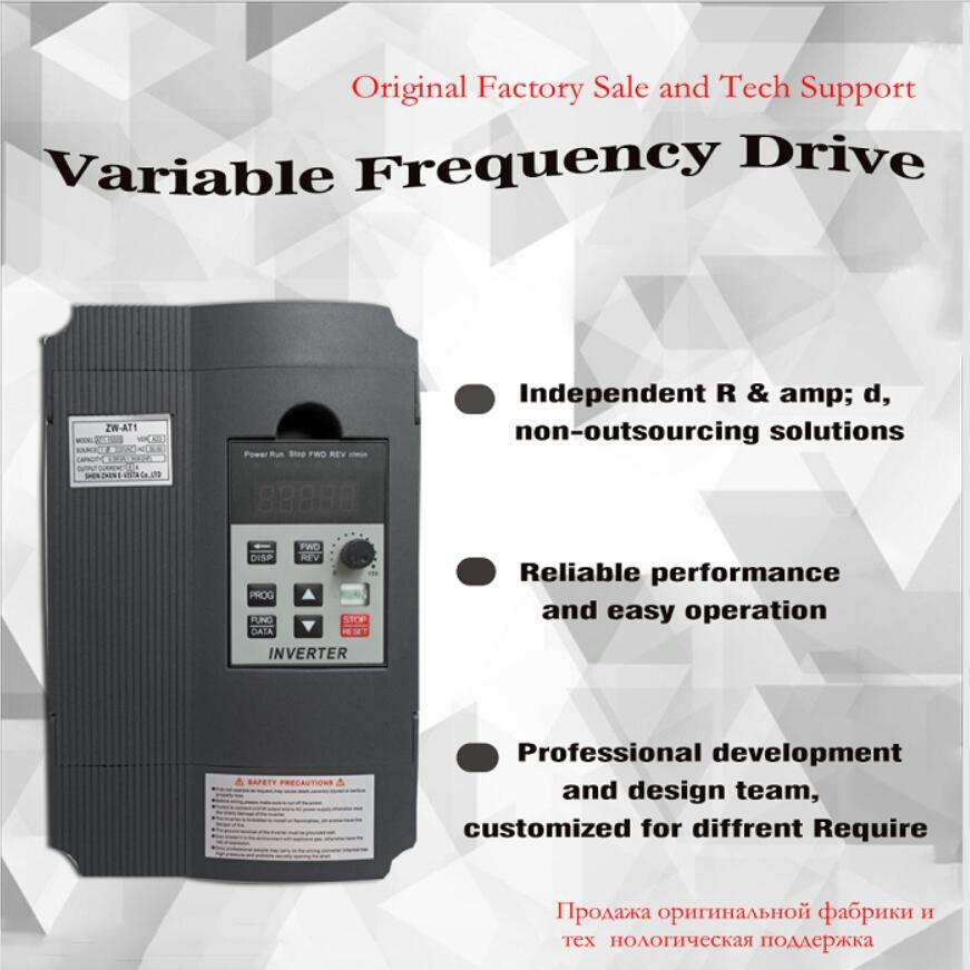 Frequency Converter Adjustable Speed VFD Inverter 1 5KW 2 2KW 4KW ZW AT1 3P 220V Output
