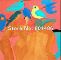 แฮนด์เมดดีศิลปะภาพวาดนามธรรมรูปเปลือยผู้หญิงศิลปะภาพบนผืนผ้าใบwall art deco, จัดส่งฟร