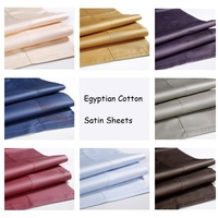 Free Shipping Luxury Hotel Home Egyptian Cotton Satin Flat Bed Sheet Queen King Size sabanas High Quality Bedding Sheets YMBS01