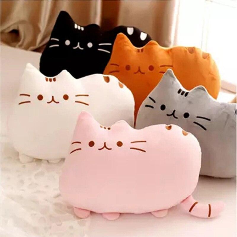 8 cores bonito gato bebê brinquedo de pelúcia, 20/40 cm travesseiro bonecas para crianças brinquedo, alta qualidade macio algodão brinquedos para o presente das crianças
