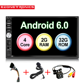 """Auto 7"""" Android 6.0 Quad Core 2G+32G Universal Double 2Din no dvd  Car Audio Stereo GPS Navigation Radio Kits Car Multimedia"""