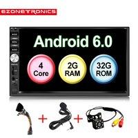 Авто 7 Android 6,0 четырехъядерный 2G + 32G Универсальный двойной 2Din нет DVD аудиосистема для автомобиля стерео gps навигация радиоприемники автомоби
