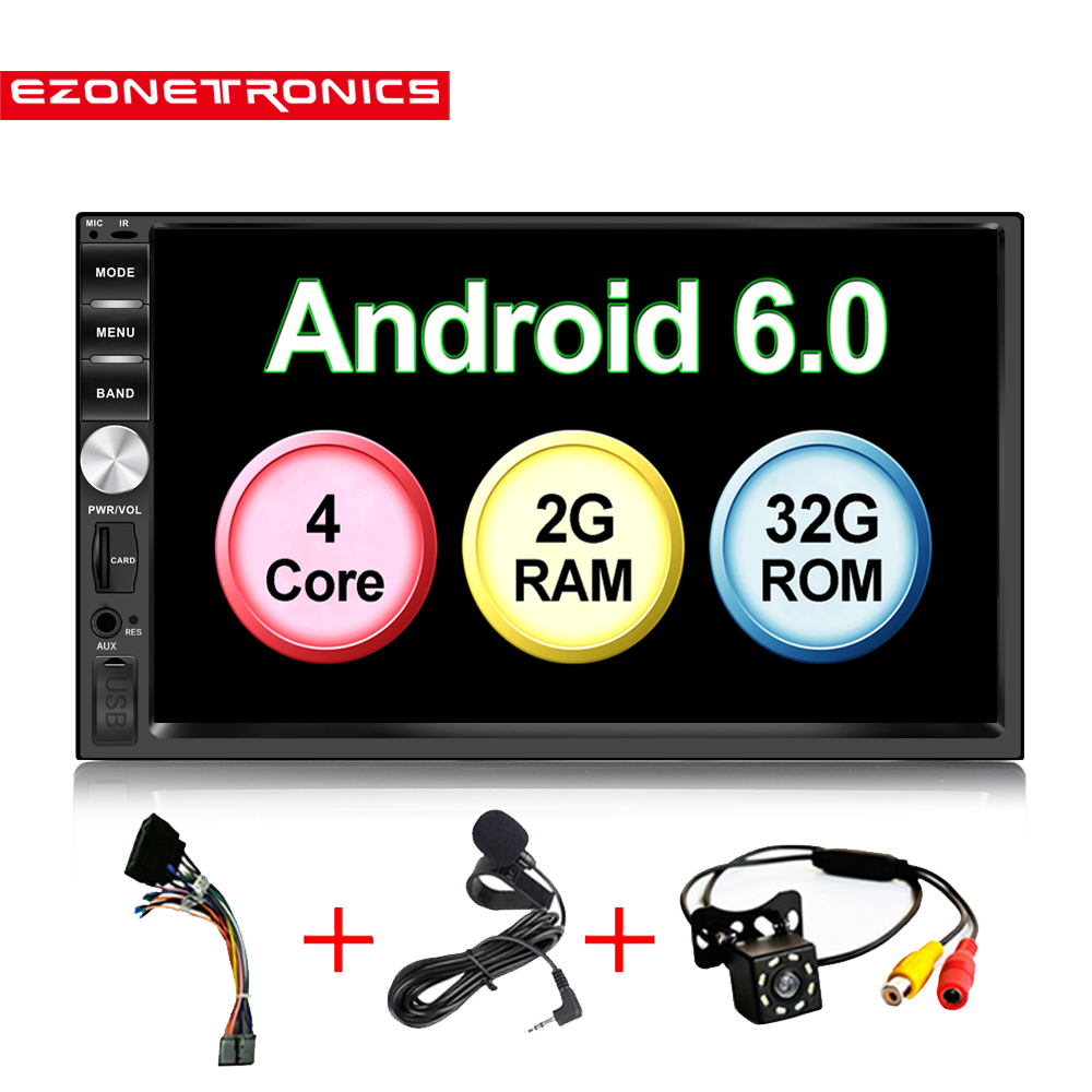 Auto 7 Android 6 0 Quad Core 2G 32G Universal Double 2Din no dvd Car Audio