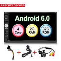 Auto 7 Android 6.0 Quad Core 2G+32G Universal Double 2Din no dvd Car Audio Stereo GPS Navigation Radio Kits Car Multimedia