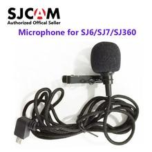 Micrófono externo para cámara deportiva SJCAM, accesorios de SJCAM originales para SJCAM SJ6 LEGEND /SJ7 Star /SJ360