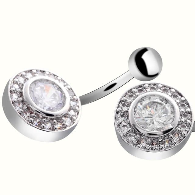 1 шт модные хирургические стальные пупковые кольца для пирсинга фотография