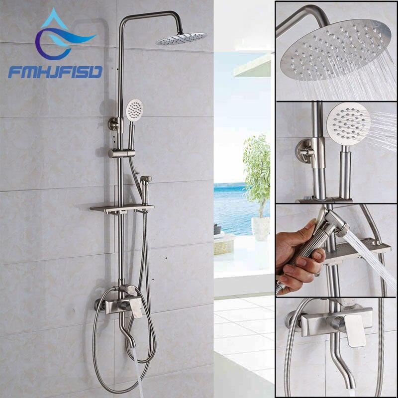 Factory Retail Bathroom Shower Mixer Water Taps with 8 Brass Shower Head Hand Shower