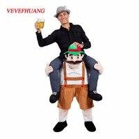 Neuheit Fahrt auf Mich Maskottchen Kostüme Tragen Zurück Lustige Tier Hosen Fancy Dress Up Oktoberfest Halloween Party Cosplay Kostüme