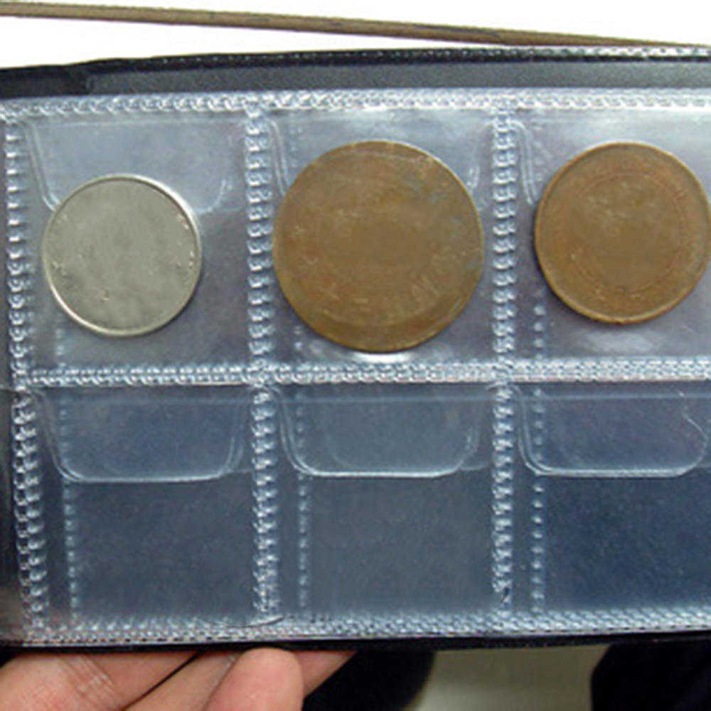 60 карманов коллекция монет альбом Мини Пенни сумка для хранения монет Альбом Книга DIY копилки для коллектора Коллекция Книга