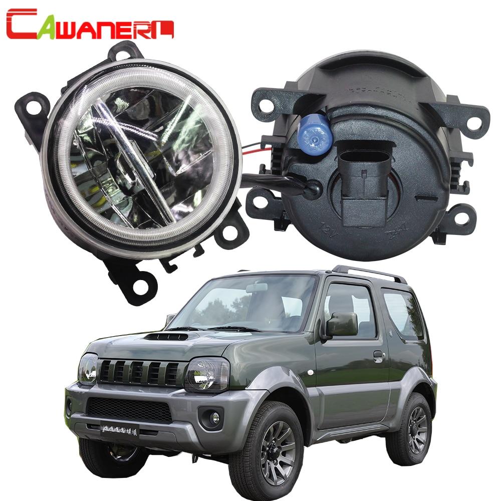 Cawanerl 2 X voiture style 4000LM LED ampoule H11 antibrouillard + Angel Eye DRL 12V pour Suzuki Jimny FJ véhicule tout-terrain fermé 1998-2014