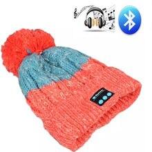 2017 Date Épais Bluetooth V4.0 Souple Chaud Tricoté Chapeau Sans Fil Intelligent Chapeau Cap Casque Casque Haut-Parleur Mic Meilleur De Noël Cadeaux