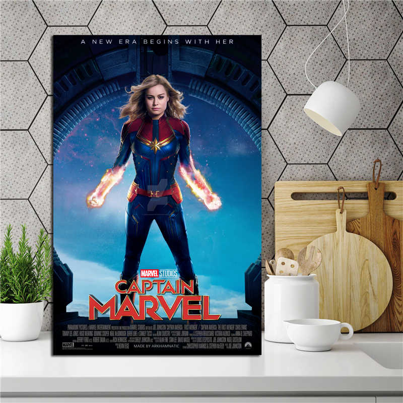 Captain Marvel Film Wallpaper Canvas Posters Prints Wall Art Painting Decorative Picture Bedroom Modern Home Decoration Artwork