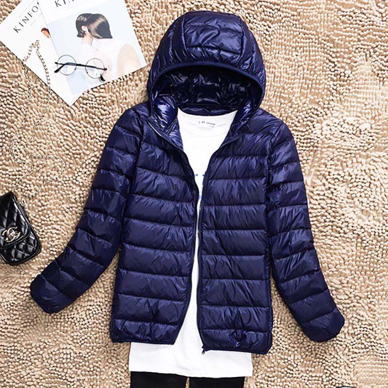 2018 Plus Size 5XL 6XL 7XL Women Ultra Light 90% White Duck Down Jacket coat Autumn Warm Hooded Winter Down Coat Overcoat Parkas 1