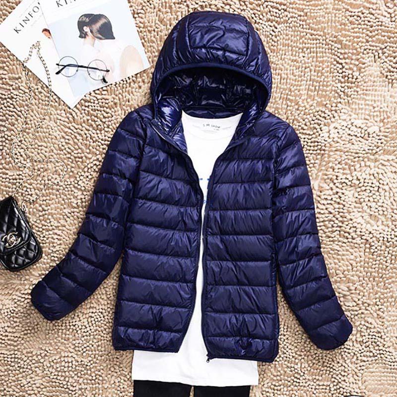 2018 Plus Size 5XL 6XL 7XL Women Ultra Light 90% White Duck Down Jacket coat Autumn Warm Hooded Winter Down Coat Overcoat Parkas 1