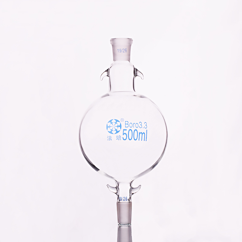 Liquide balle 500 ml 19/26 + 19/26, Solvant analyze chromatographique colonne réservoir bouteille, Chromatographie solvant de stockage bouteille
