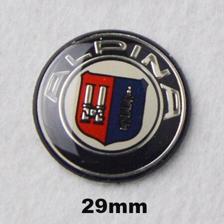 Wholesale 100pcs/pack Alpina Logo 29mm Multimedia Audio Control Button Labeled Car Sticker Emblem Auto Badge Decal for bmw
